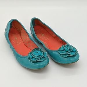 Lindsay Phillips Teal/Turquoise Flats Size 7